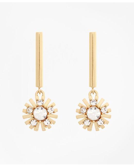 Brooks Brothers - Metallic Crystal Starburst Earrings - Lyst