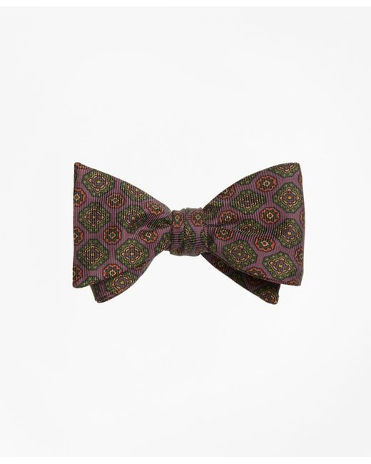Brooks Brothers | Purple Ancient Madder Medallion Bow Tie for Men | Lyst