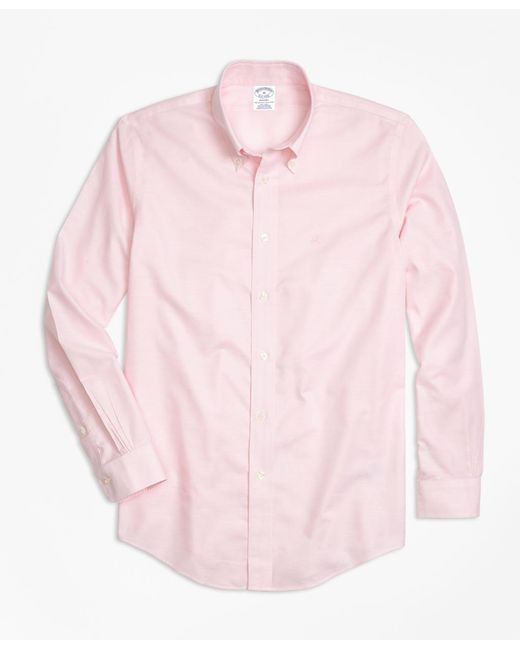 Brooks Brothers - Pink Non-iron Milano Fit Oxford Sport Shirt for Men - Lyst