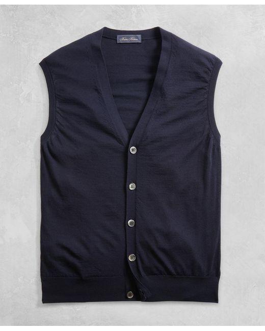 Brooks Brothers - Blue Golden Fleece® 3-d Knit Fine-gauge Merino Button Vest for Men - Lyst