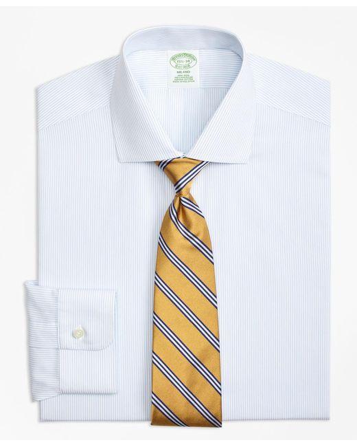 Brooks Brothers - Blue Non-iron Milano Fit Mini Pinstripe Dress Shirt for Men - Lyst