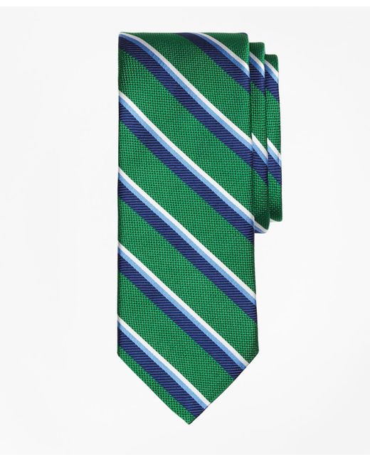 Brooks Brothers - Green Sidewheeler Double Stripe Tie for Men - Lyst