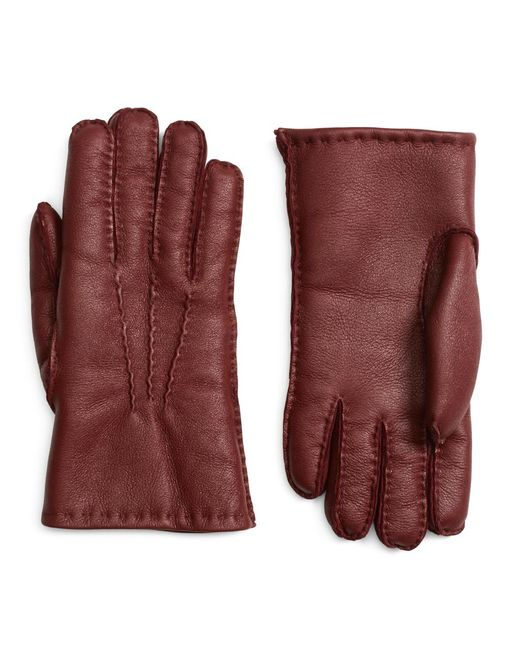 Brooks Brothers - Red Shearling Gloves for Men - Lyst