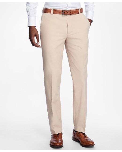 Brooks Brothers | Natural Milano Fit Supima® Cotton Poplin Pants for Men | Lyst