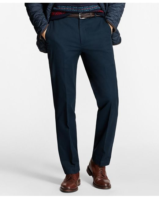Brooks Brothers - Blue Clark Fit Piece-dyed Supima® Cotton Stretch Chinos for Men - Lyst