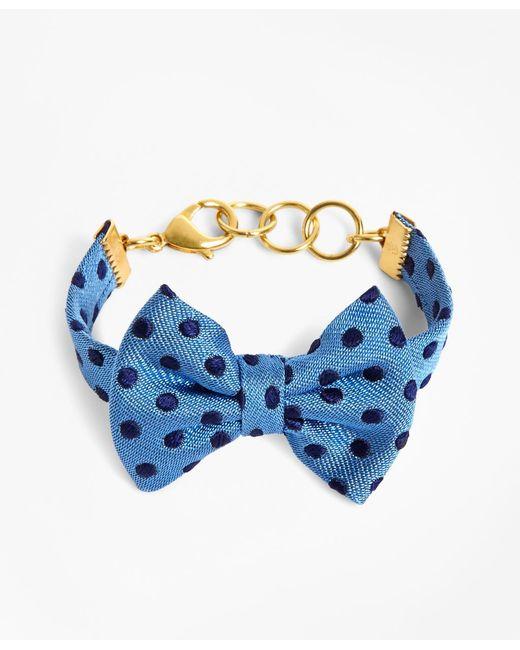 Brooks Brothers | Kiel James Patrick Blue And Navy Polka Dot Bow Tie Bracelet | Lyst