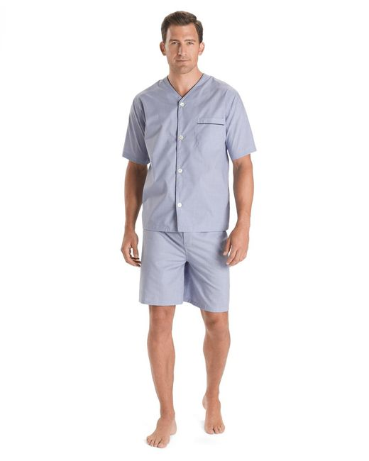 Brooks Brothers - Blue Wrinkle-resistant Short Pajamas for Men - Lyst