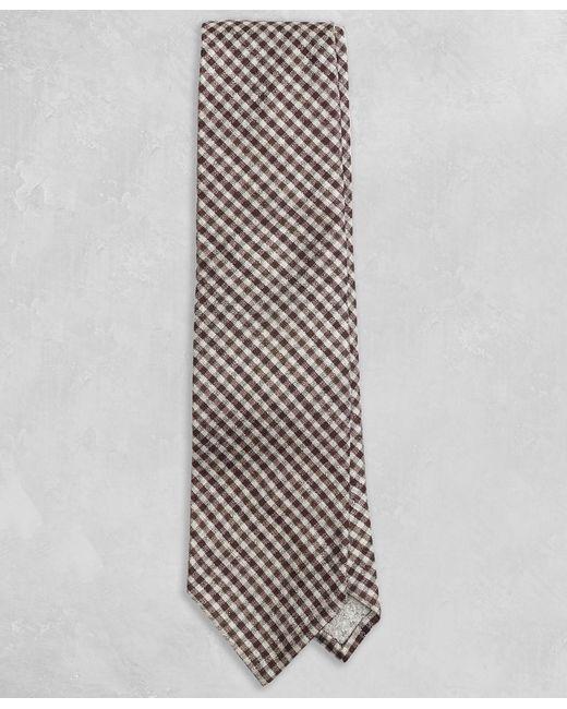 Brooks Brothers - Golden Fleece® Brown Gingham Tie for Men - Lyst