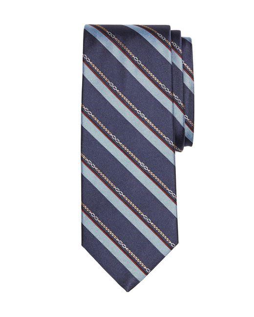 Brooks Brothers | Blue Horsebit Stripe Tie for Men | Lyst