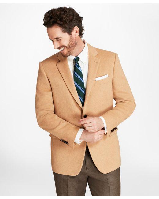 Brooks Brothers - Natural Regent Fit Camel Hair Sport Coat for Men - Lyst