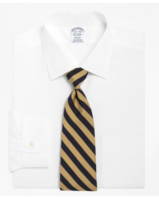 Brooks Brothers - White Regent Fit Spread Collar Dress Shirt for Men - Lyst