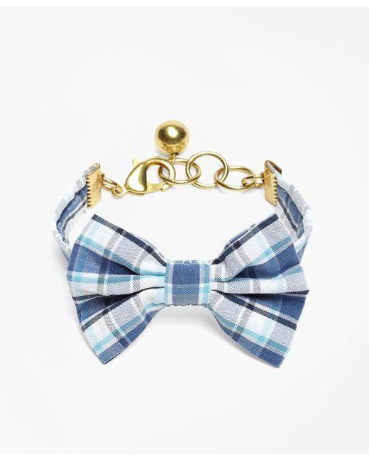 Brooks Brothers - Blue Kiel James Patrick Seersucker Plaid Bow Tie Bracelet - Lyst