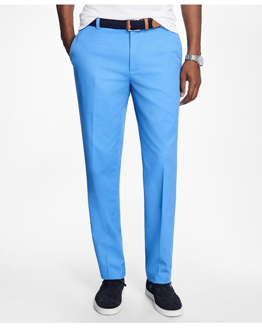 Brooks Brothers | Blue Milano Fit Supima® Cotton Stretch Chinos for Men | Lyst