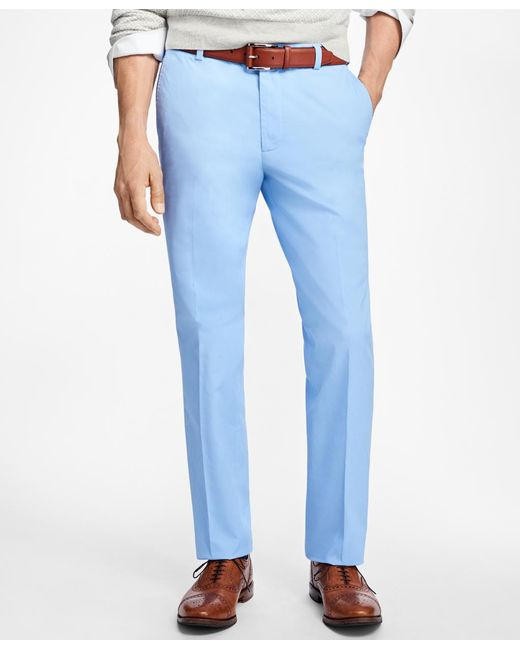 Brooks Brothers - Blue Milano Fit Supima® Cotton Poplin Pants for Men - Lyst
