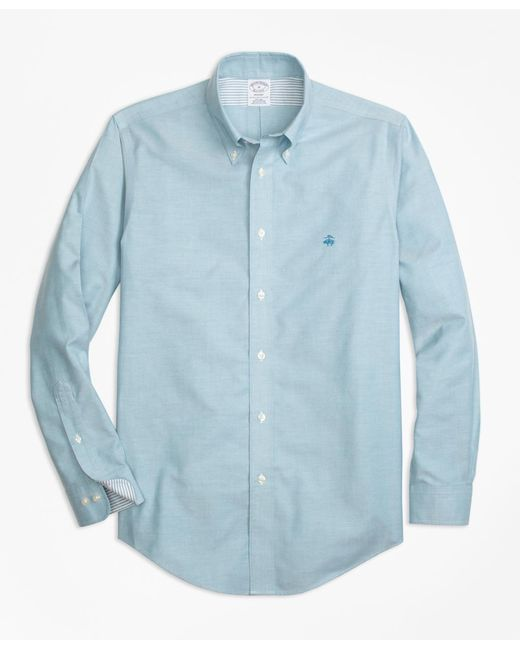 Brooks Brothers - Blue Non-iron Milano Fit Supima® Cotton Oxford Sport Shirt for Men - Lyst
