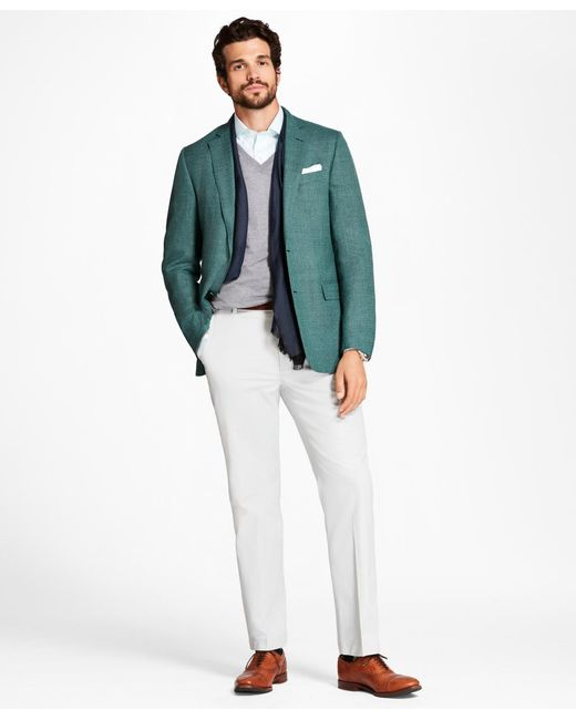 Brooks Brothers - Green Regent Fit Hopsack Sport Coat for Men - Lyst