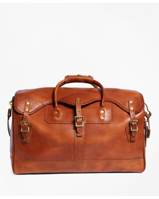 Brooks Brothers - Brown J.w. Hulme Leather Small Duffel Bag for Men - Lyst