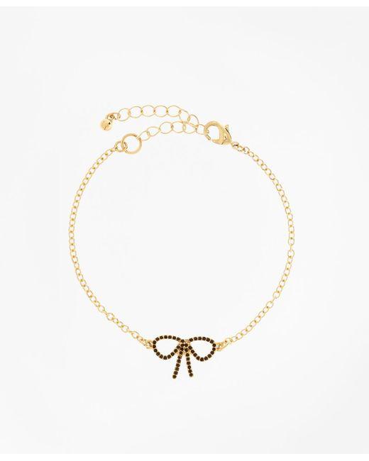 Brooks Brothers | Metallic Crystal Pave Bow Bracelet | Lyst