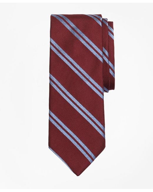 Brooks Brothers - Textured Heathered Double Stripe Tie for Men - Lyst