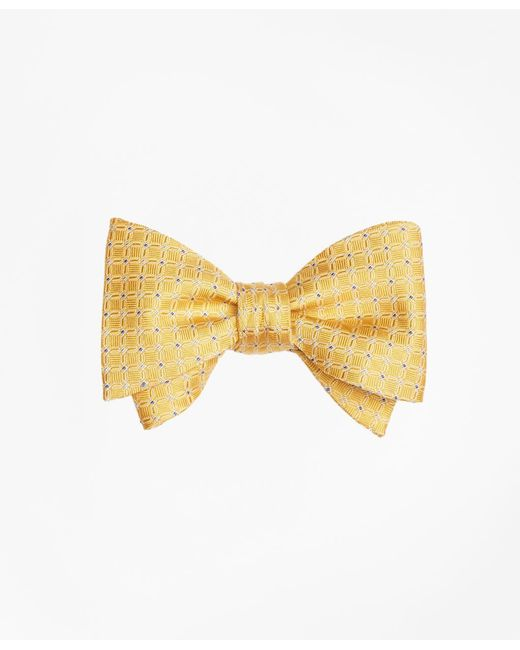 Brooks Brothers - Yellow Parquet Link Bow Tie for Men - Lyst