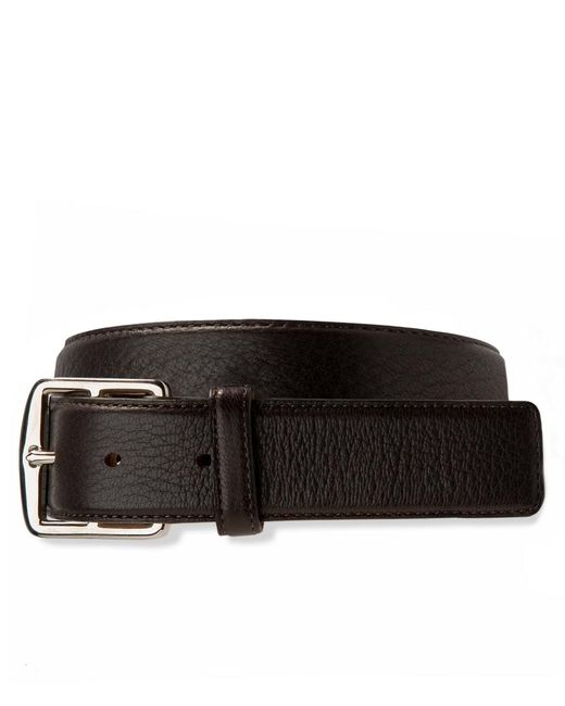 Brooks Brothers | Brown Deerskin Leather Belt for Men | Lyst