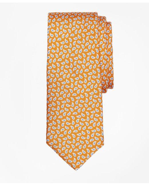 Brooks Brothers - Orange Panama Pine Print Tie for Men - Lyst