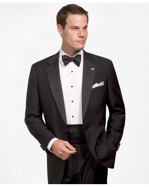 Brooks Brothers | Black Wool Tuxedo Jacket for Men | Lyst