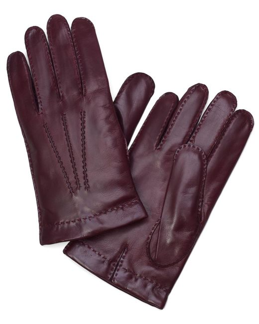 Brooks Brothers - Purple Lambskin Cashmere Lined Gloves for Men - Lyst