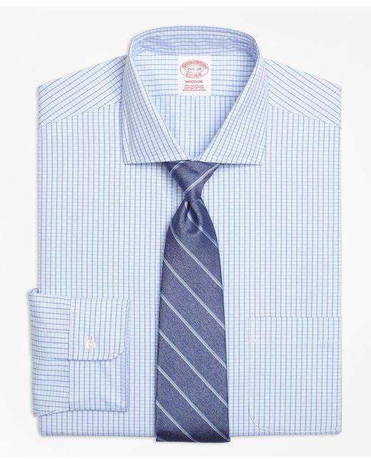 Brooks Brothers | Blue Non-iron Madison Fit Dobby Windowpane Dress Shirt for Men | Lyst