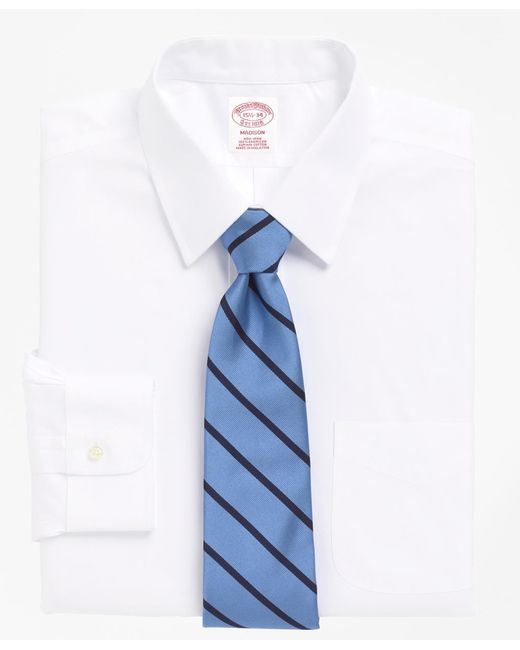 Brooks Brothers   White Non-iron Madison Fit Point Collar Dress Shirt for Men   Lyst