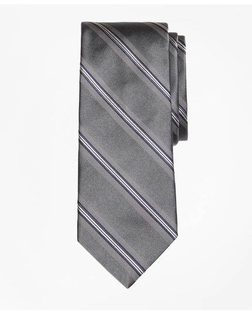Brooks Brothers - Gray Framed Stripe Tie for Men - Lyst