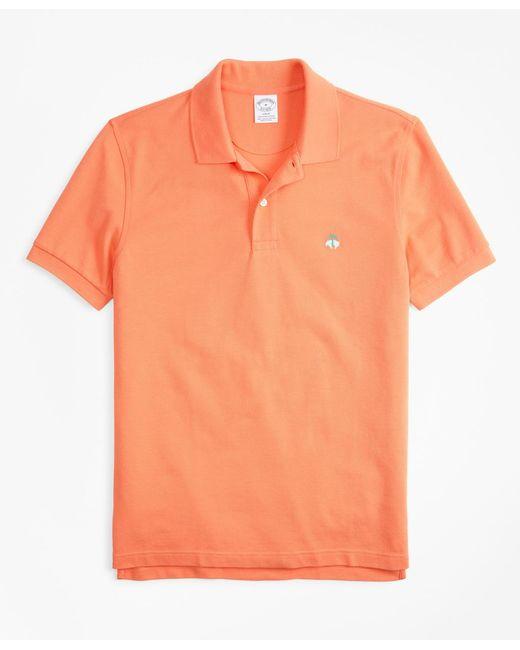 Brooks Brothers - Orange Slim Fit Supima® Cotton Performance Polo Shirt for Men - Lyst
