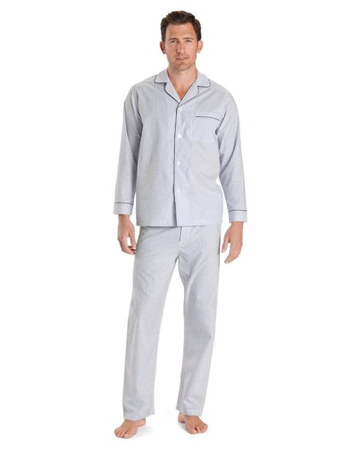 Brooks Brothers | Wrinkle-resistant Blue Stripe Pajamas for Men | Lyst