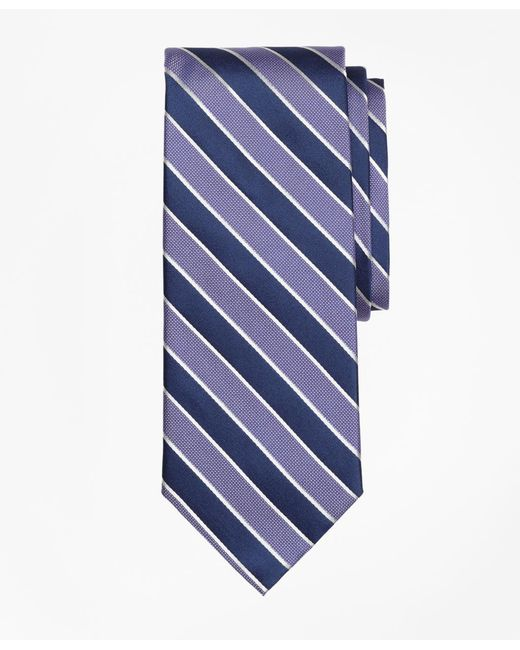 Brooks Brothers - Purple Framed Alternating Stripe Tie for Men - Lyst
