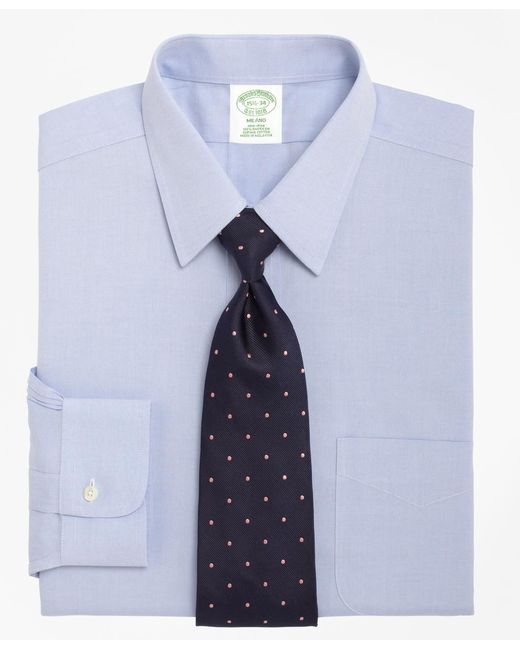 Brooks Brothers | Blue Non-iron Milano Fit Point Collar Dress Shirt for Men | Lyst