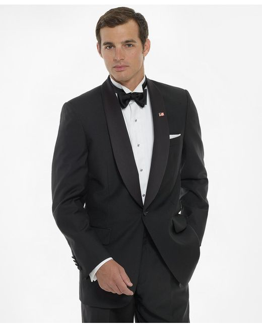 Brooks Brothers | Black One-button Shawl Collar Tuxedo Jacket for Men | Lyst