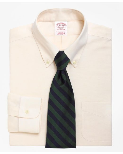 Brooks Brothers - Natural Non-iron Traditional Fit Brookscool® Button-down Collar Dress Shirt for Men - Lyst