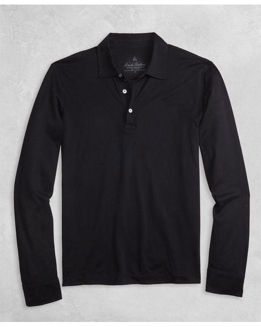Brooks Brothers - Blue Golden Fleece® Pique Knit Long-sleeve Polo Shirt for Men - Lyst