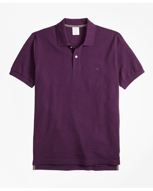 Brooks Brothers - Purple Slim Fit Supima® Cotton Performance Polo Shirt for Men - Lyst