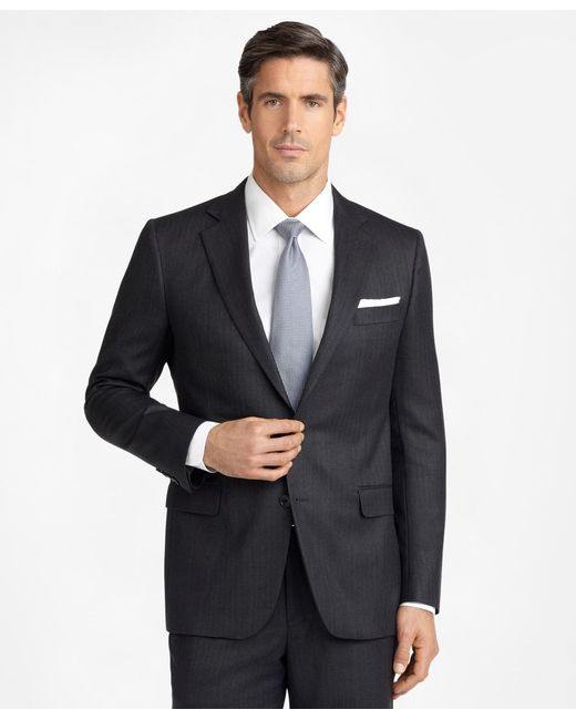 Brooks Brothers - Gray Madison Fit Saxxontm Wool Herringbone 1818 Suit for Men - Lyst
