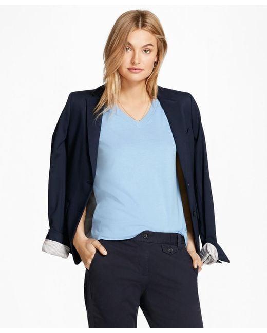 Brooks Brothers - Blue Garment-dyed V-neck T-shirt - Lyst