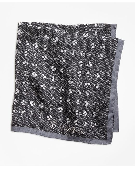 Brooks Brothers - Gray Geo Rose Pocket Square for Men - Lyst