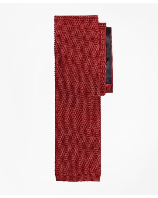 Brooks Brothers - Red Knit Tie for Men - Lyst