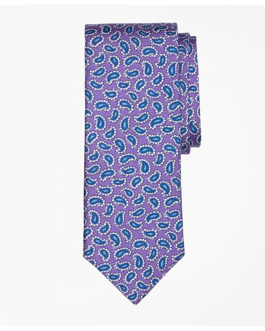 Brooks Brothers | Purple Tossed Pine Print Tie for Men | Lyst