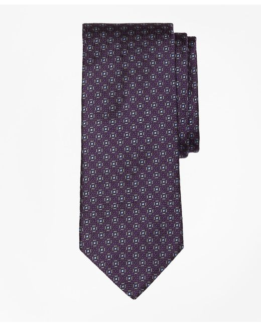 Brooks Brothers | Purple Framed Medallion Tie for Men | Lyst