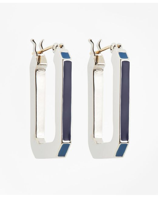 Brooks Brothers | Metallic Large Iconic Link Earrings | Lyst
