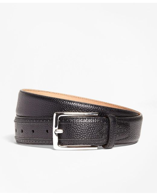 Brooks Brothers | Black Pebble Leather Belt for Men | Lyst