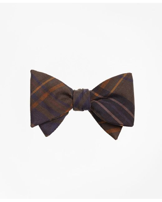 Brooks Brothers | Green Ancient Madder Plaid Print Bow Tie for Men | Lyst