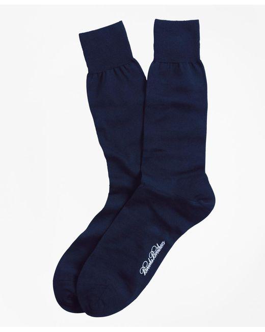 Brooks Brothers - Blue Merino Wool Jersey Crew Socks for Men - Lyst