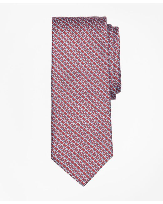 Brooks Brothers - Red Chain Link Print Tie for Men - Lyst